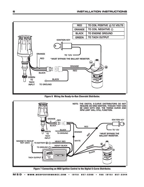wiring diagram for msd ready to run distributor www