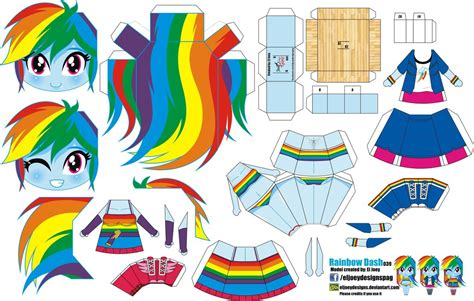 Rainbow Dash Papercraft - 1000 images about mlp on my pony