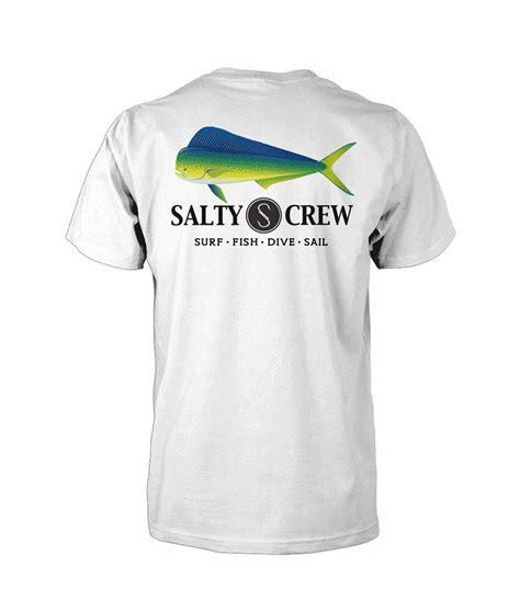 salty t shirt salty crew mahi sleeve t shirt white tackledirect