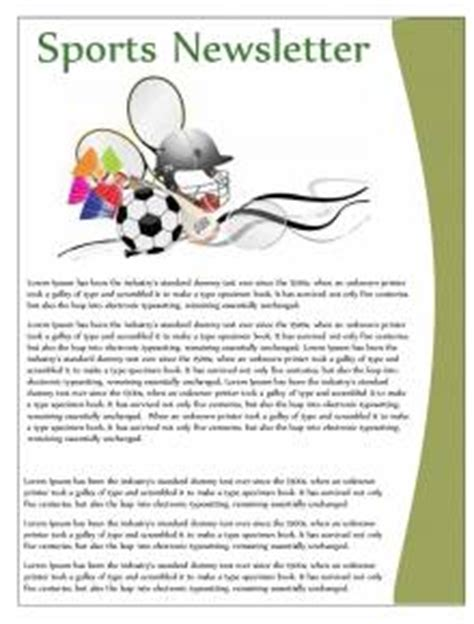 sports newsletter templates free printable newsletters newsletter templates email