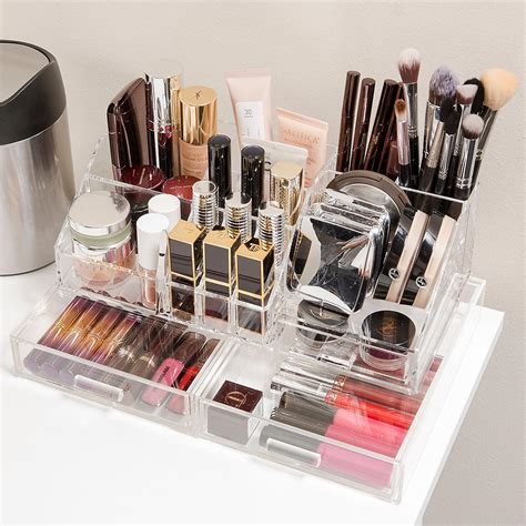 makeup drawer organiser acrylic makeup organizer with drawer the container