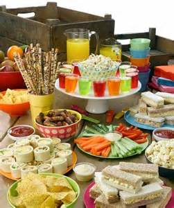 Party Food by Party Food Spread For Kids Birthday Parties Pinterest