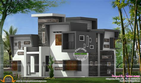 flat roof luxury home design kerala floor plans building home design home plan and elevation sq ft kerala home