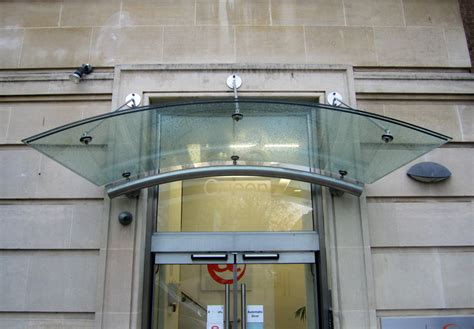 glass awnings canopies veon glass bespoke structural glass solutions curved laminated glass canopy bristol