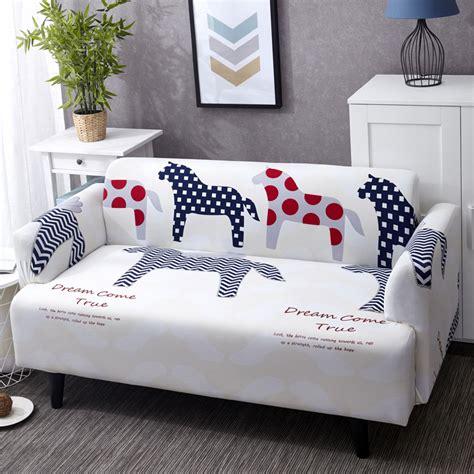 zebra sofa cover aliexpress com buy elastic sofa cover print with cartoon