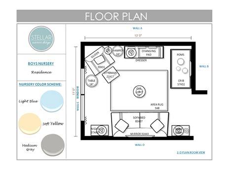 nursery floor plans nursery e design stellar interior design