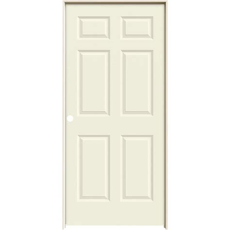 Jeld Wen Prehung Interior Doors Jeld Wen 36 In X 80 In Molded Smooth 6 Panel Vanilla Hollow Composite Single