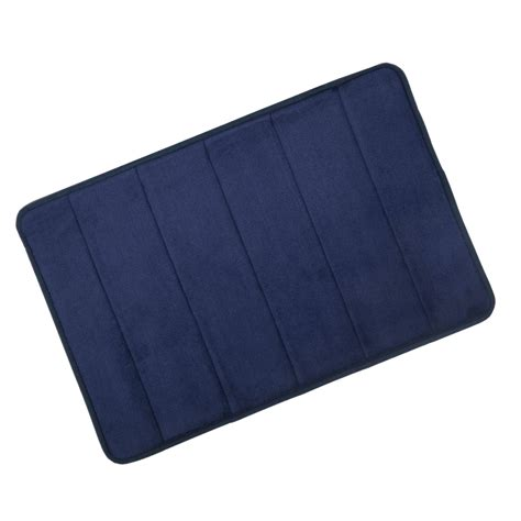 navy bathroom rugs navy microfibre memory foam bath mat washable bathroom rug