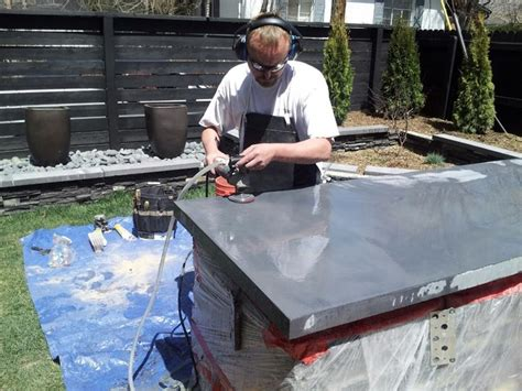 Concrete Countertops Poured In Place by Poured In Place Polished Concrete Countertop Denver By