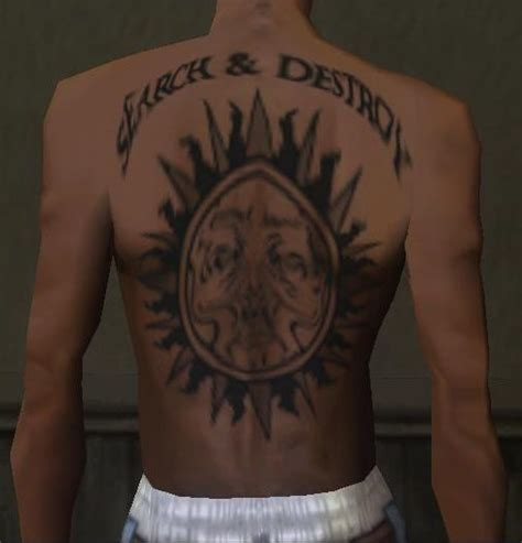 henry rollins tattoo gta san andreas henry rollins back tattoos mod gtainside
