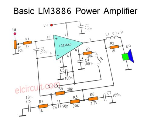 Power Gainclone Lm3886 Stereo lm3886 schematic diagram audio lifiers lm3886 two