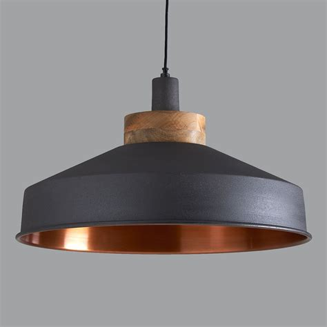 Copper Pendant Light Uk Cosmos Graphite And Copper Pendant Light