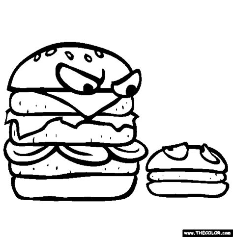 Burgers Coloring Page  Free Online sketch template