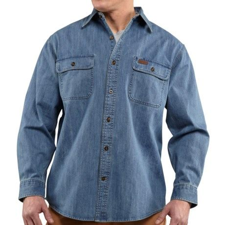 Sleeve Washed Denim Shirt heavy duty denim shirt great value review of carhartt