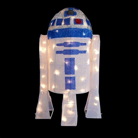 home depot star wars lights kurt s adler 28 in star wars r2d2 yard decor zhdusw9156