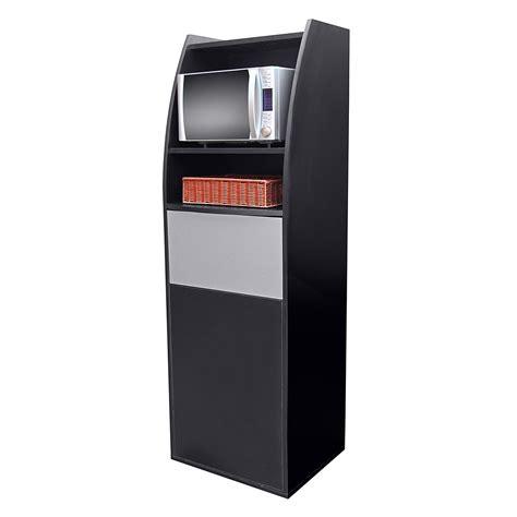 Meuble micro onde et poubelle salle de restaurant noir MVE