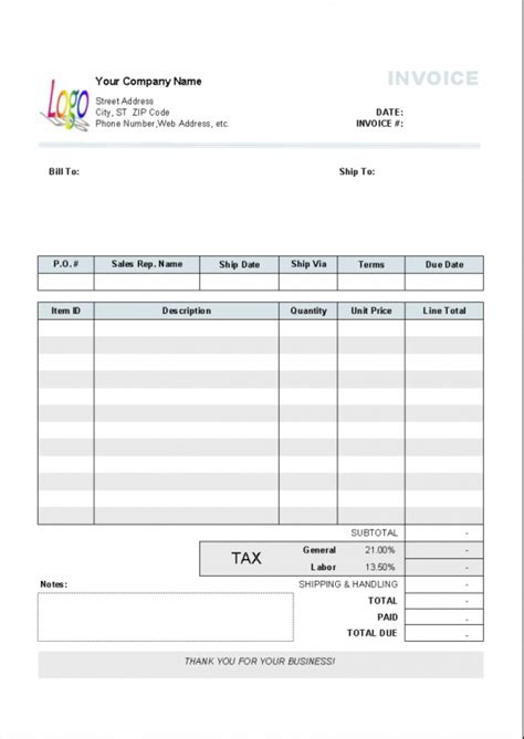 nz invoice template toreto co