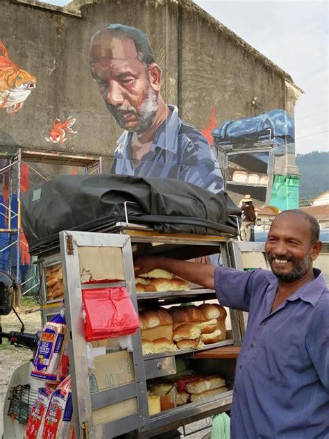 meniaga roti lebih   uncle roti legend  penang
