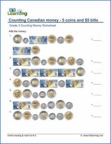 grade 3 counting money worksheet on counting canadian