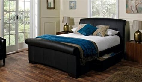 bensons for beds bensons for beds santino black faux leather bed frame bed frames bedrooms