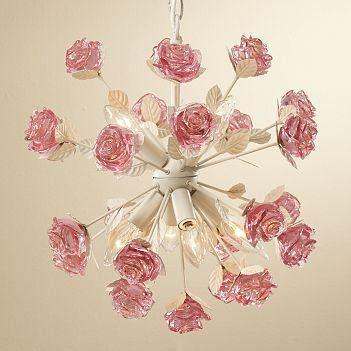 pink rose chandelier