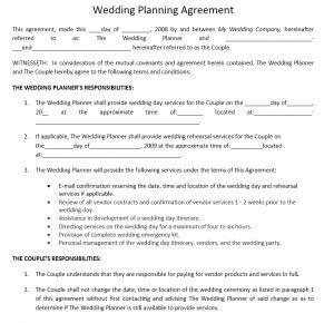 Wedding Event Organizer Description by Wedding Planner Agreement Archives Free Microsoft Word