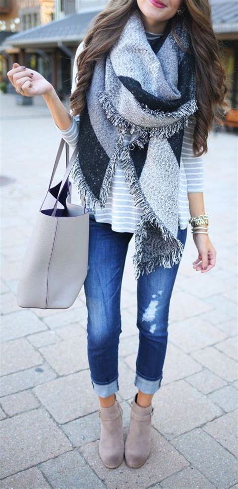 scarves to add oomph to any fall look glam radar 100 most repinned fall outfits grey style and fall outfits