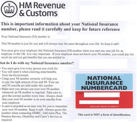 National Insurance Letters Years Mathew Shia National Insurance Number 1st Time Application