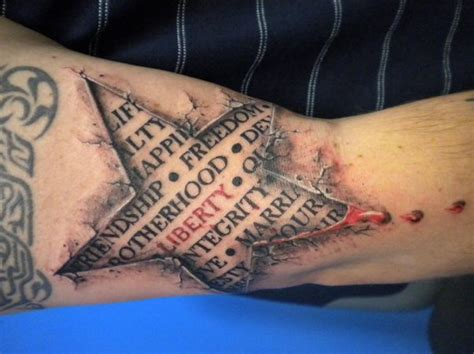 tattoo 3d com 20 3d star tattoo images pictures and design ideas