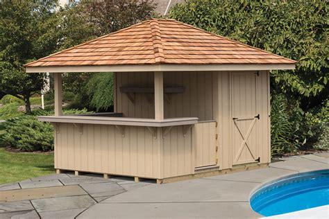 cabanas outdoor bars cedar craft storage solutions