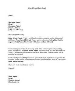 Donation Letter Template For Schools by Sle Donation Letter 10 Exles In Word Pdf