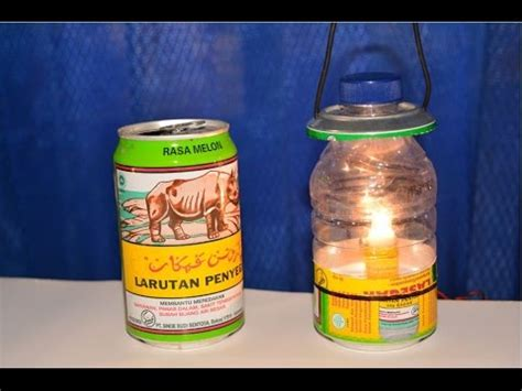 membuat lu hias dari kaleng bekas cara membuat lentera dari botol dan kaleng bekas youtube
