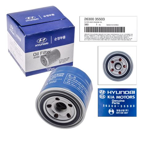 Kia Filter New 26300 35503 Genuine Oem For Hyundai Kia Filter Ebay