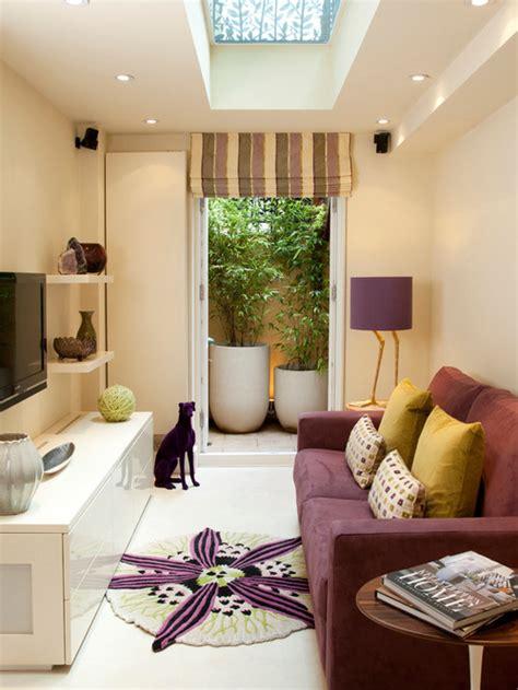 ide desain interior ruang keluarga model memanjang