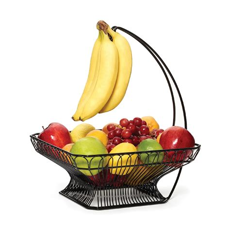 fruit basket amazon com gourmet basics by mikasa 3 tier metal market