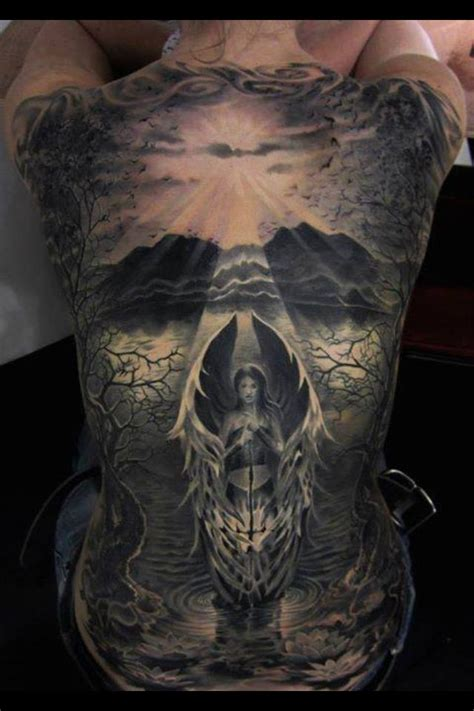 Tattoo Angel Skull | skull angel back tattoo tattoos pinterest
