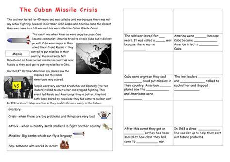 Cuban Missile Crisis Worksheet by Eal Sen Lower Ability Cuban Missile Crisis Worksheet By