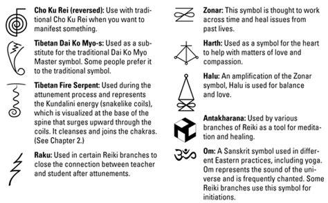 traditional reiki symbols dummies