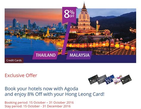 agoda standard chartered hong leong credit card promotion 8 off agoda