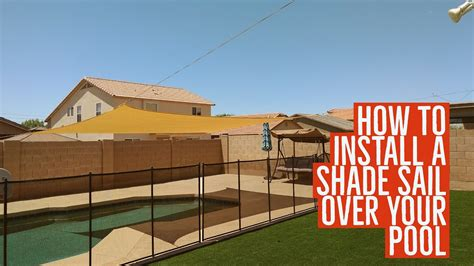 Diy Shade Sail Over Your Pool Swim More Burn Less Instant Patio System