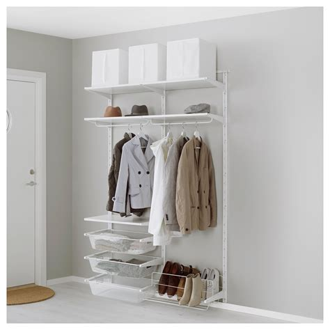 algot wall upright shelves shoe organiser metal white algot shoe rack cosmecol