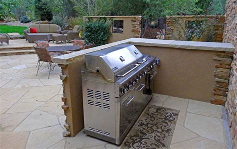 Kitchen Island Ideas Small Kitchens outdoor grill station with stucco cafe wall mile high