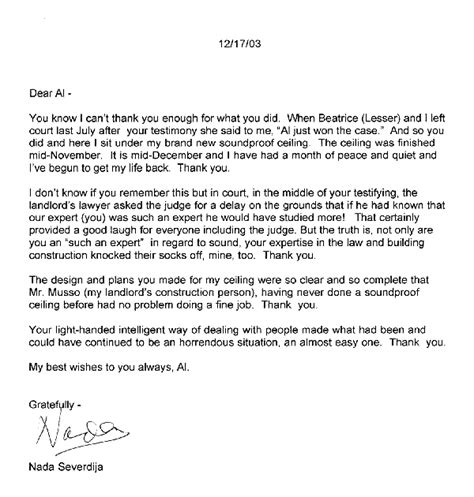 Customer Winback Letter Acoustilog Incorporated Testimonial Letters