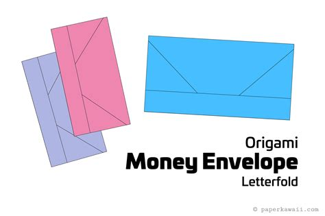 Money Origami Tutorial - origami money envelope letterfold tutorial