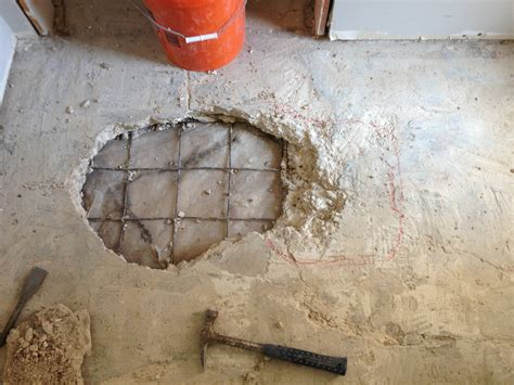 concrete  cement product     fix  hole   slab home improvement stack