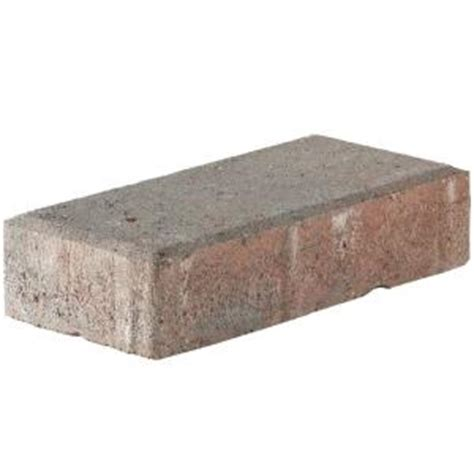4 X 8 Patio Pavers Pavestone 4 In X 8 In 45 Mm Town Blend Concrete Paver 22099 The Home Depot