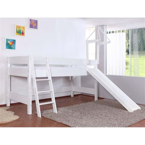 slide beds kidz beds kim half highsleeper with slide white