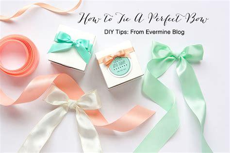 Handmade Tips - diy tips how to tie a bow evermine
