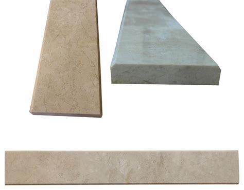 beige marble both sides polished saddle threshold 4 quot x36
