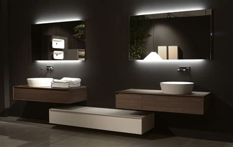 modern mirrors for bathrooms antonio lupi back lit mirrors modern bathroom mirrors